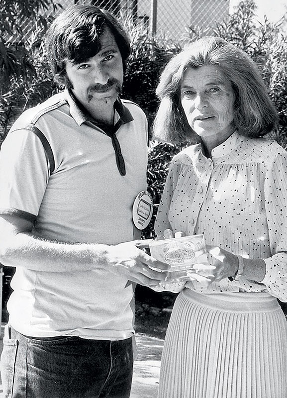 Kennedy Shriver poses with former SI senior writer Jack McCallum in 1979. The Special Olympics founder received SI's first Sportsman of the Year Legacy Award in 2008.