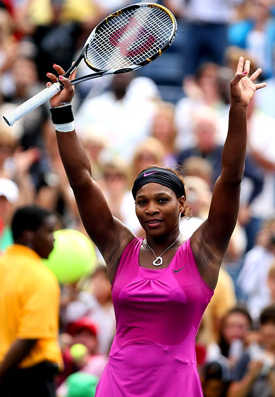 Williams opened defense of her Open crown with a 6-4, 6-1 victory against fellow American Alexa Glatch. Serena is trying to win her 12th career Grand Slam title and third this year.