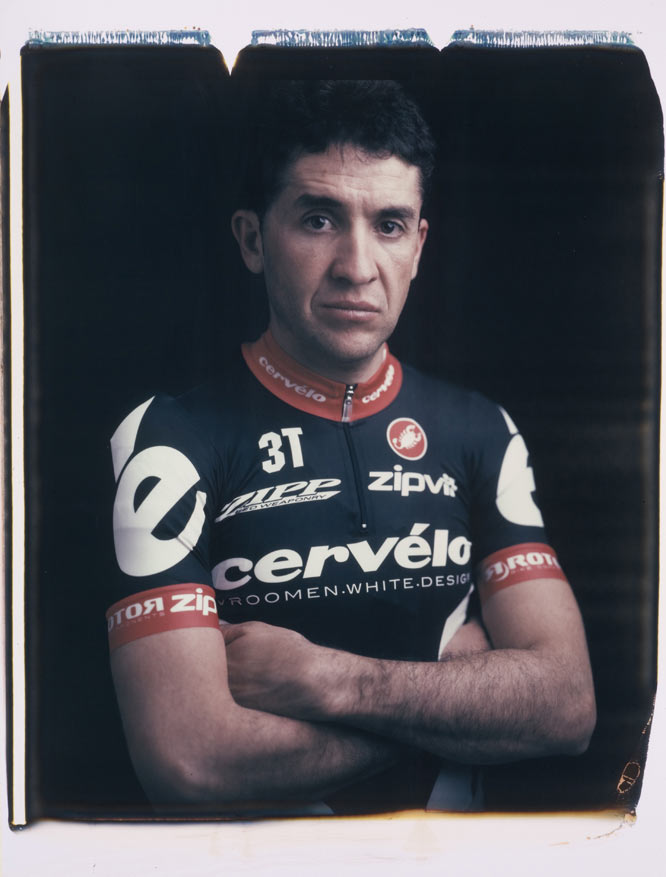 This portrait was made in my studio just prior to this year's Tour of California. I was fortunate to photograph Carlos and many of his teammates the year prior, when he won the 2008 Tour de France. Carlos is a gentleman. This image is taken with a rare, mammoth, 20x24 Polaroid view camera.