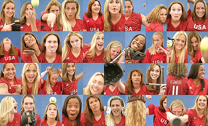 "I've been working with Team USA for years and was able to ""pitch"" them on the idea of shooting some photobooth style images of the team for their press book. The girls were great and let their guards down. I love these images as a group because you get a feel for the team as a whole, yet the individual personalities of each player."