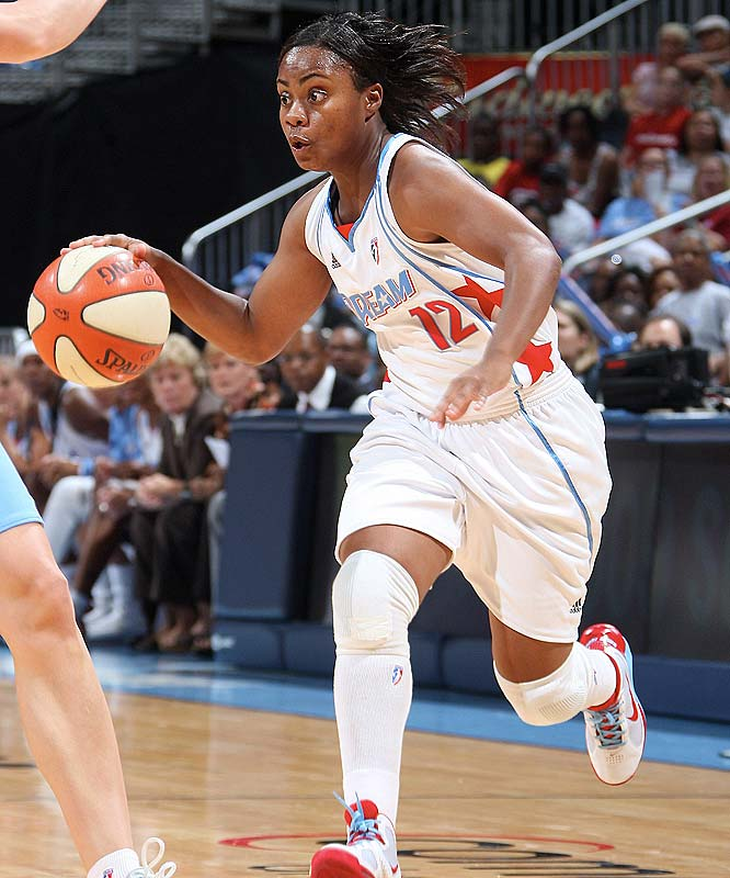 Last year the Dream struggled all season to find a rotation that could spark their offense. But this year, not only do they have one of the league's steadier starting fives, but also one of its better benches. Anchored by veteran Ivory Latta (pictured) and rookie Angel McCoughtry, the Dream's reserves pitched in 24 points in a 92-84 victory at San Antonio, then busted out for a whopping 49 points last Sunday against Chicago, albeit in an 82-80 loss. Depth like that will make the Dream one tough out come the playoffs. (Yes, we're penciling them in for their first-ever appearance.)<br><br>Next three: 8/13 vs. Detroit; 8/15 vs. Seattle; 8/20 vs. San Antonio