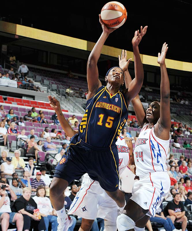 Even though the Sun's defense mostly failed in a 95-88 loss vs. the Lynx last Friday, Connecticut could take encouragement from the job it did against Minnesota's perimeter shooters, holding them to just 4-of-19 from deep. Two days later, the Sun stepped up that effort against the Mystics, holding Washington to 0-of-14 shooting in a 96-67 win. Asjha Jones (pictured) scored 14 points, her 18th double-figure scoring game this season, which set a franchise record.  <br><br>Next three: 8/13 vs. Seattle; 8/14 at Washington; 8/19 vs. New York