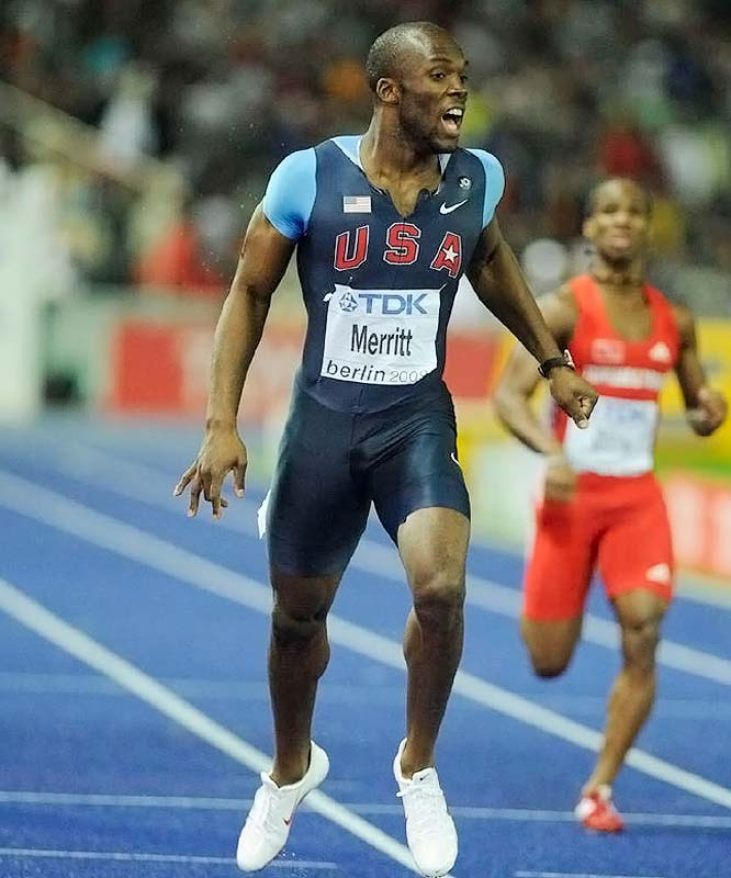 LaShawn Merritt out-kicked Wariner to take the gold in the 400 meters.