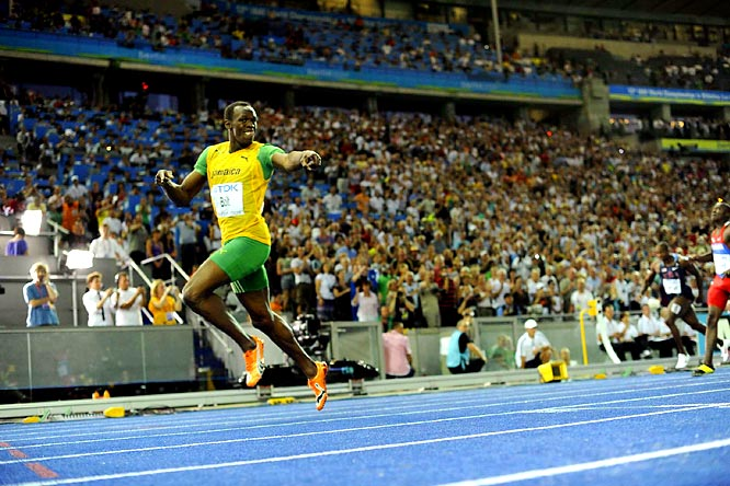 """I was running my heart out,"" Bolt said. ""I got my start right and that was the key. And when I got the start I knew I was fine."""