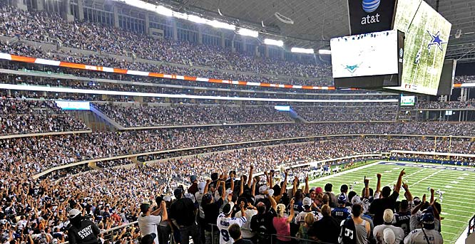 Thanks to some affordable standing-room only tickets, the Cowboys set an NFL regular season record with a crowd of 105,121.