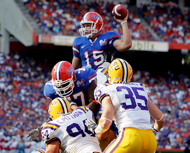 The award had been reserved for upperclassmen until the Gators' record-breaking QB put up numbers that couldn't be ignored, regardless of age. In the season in which he became the first player to ever throw 20 TDs and run for 20 more, he also became the first sophomore winner.