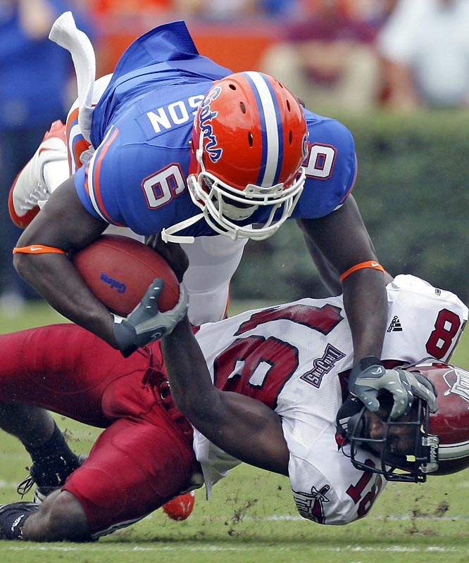 Deonte Thompson caught two balls for 39 yards, including a 33-yard touchdown as the Gators steamrolled the Trojans leading into next weekend's SEC opener.
