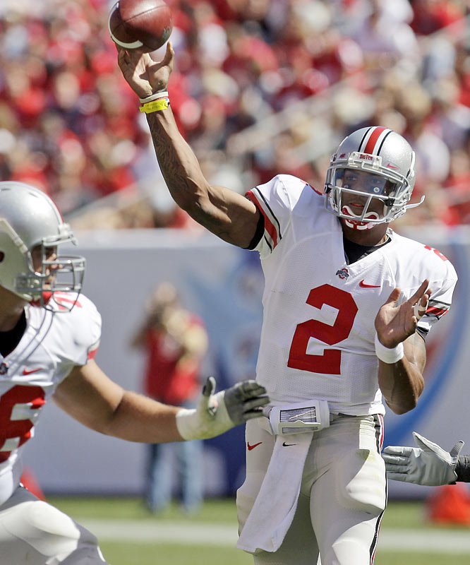 Ohio State rebounded from its 18-15 loss to Southern Cal by totally dominating the Rockets. Terrelle Pryor ran for 110 yards and a touchdown and completed 17 of 28 passes for 262 yarrds and three more TDs. The Buckeyes open Big Ten play this week against Illinois.