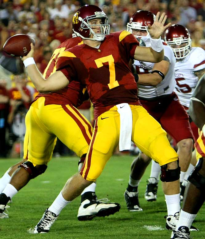 Matt Barkley threw two long touchdown passes in 9 seconds during the first quarter on the way to 247 yards passing, and the Trojans rebounded from their latest upset loss with a 27-6 victory over the Cougars.