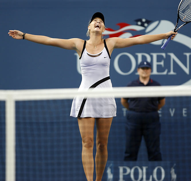 Maria Sharapova is the picture of happiness after capturing the 2006 U.S. Open.