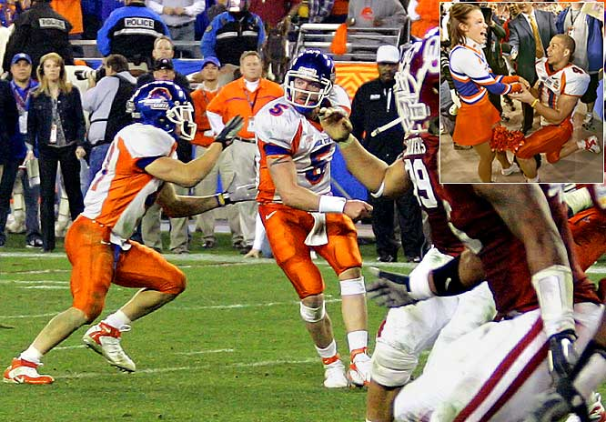 The only corny, smarmy, utterly unbelievable thing missing from this one was the game's hero sprinting from the endzone to the sideline, so he could propose to his cheerleader girlfriend on bended knee. Oh, wait ... Ian Johnson did. It was magnificent and shocking and daring. The tricky Broncos didn't have to go for the two-point conversion in the first overtime, but did. Sure, why not? That's how legends are made.