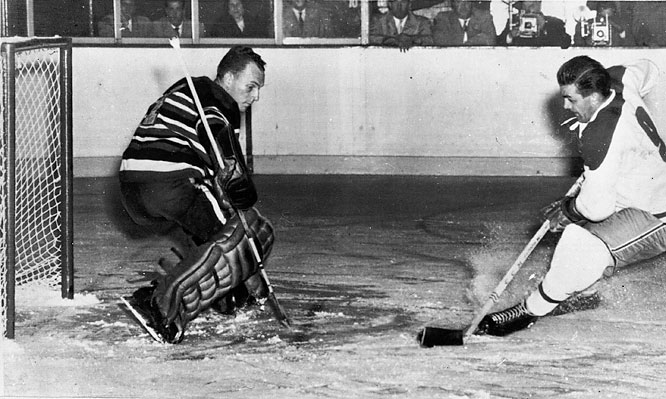 It is the true mark of goaltender Al Rollins' excellence that he was awarded the Hart Trophy as the NHL's MVP in 1954 after toiling to a sorry squad that went 12-51-7 during a 14-year run of losing seasons that mercifully included three playoff appearances. A winning season in 1960-61 led to a Stanley Cup.
