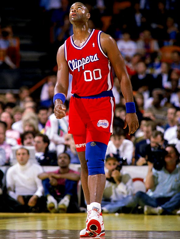 A basketball shipwreck, the Clippers posted 12 straight losing seasons during an NBA-record streak of 15 without a playoff appearance (1976-91) that stretched back to their tenure in Buffalo as the Braves. Pictured is Benoit Benjamin (1985-91 Clippers).
