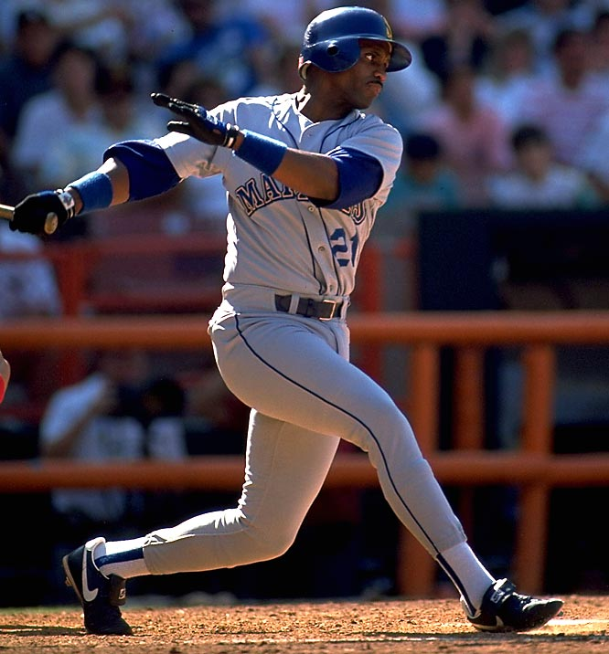 Launched in 1977, the Mariners drifted for 14 years until they reached -- and exceeded -- the .500 mark with an 83-79 record in 1991. Their fans waited until 1995 for the M's to make a postseason appearance. Pictured is Alvin Davis (1984-91 Mariners).