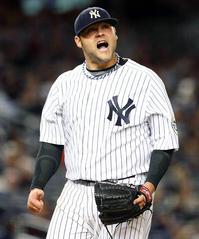 Joba Chamberlain made a strong case for a spot inthe playoff rotation with six strong innings on Friday night. He struck out five and walked one on the way to earning his first win since August 6.