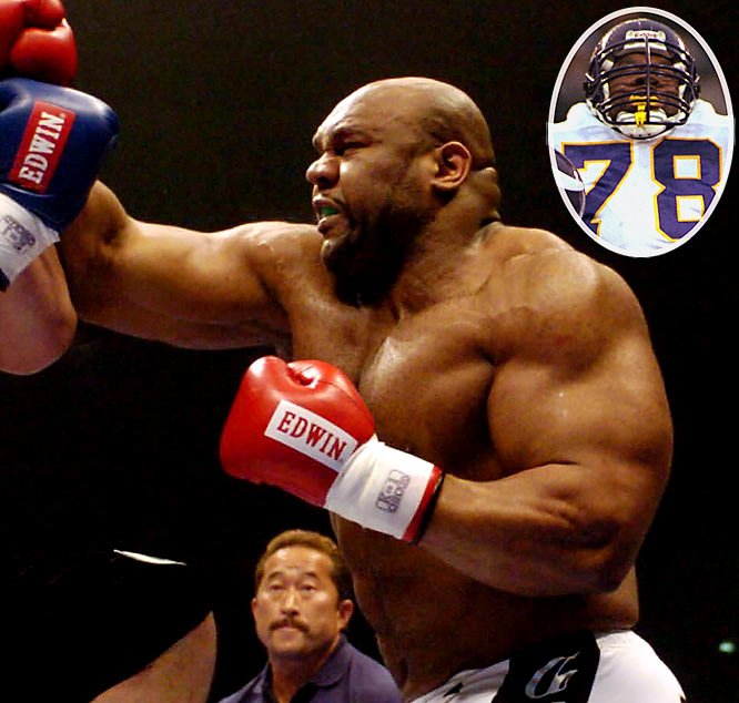 Perhaps the NFL's most experienced MMA convert, Sapp was signed to four teams in his four years in the league, having only played in one game. Since making his pro MMA debut in 2002, Sapp has compiled a 10-5-1 record in the cage.