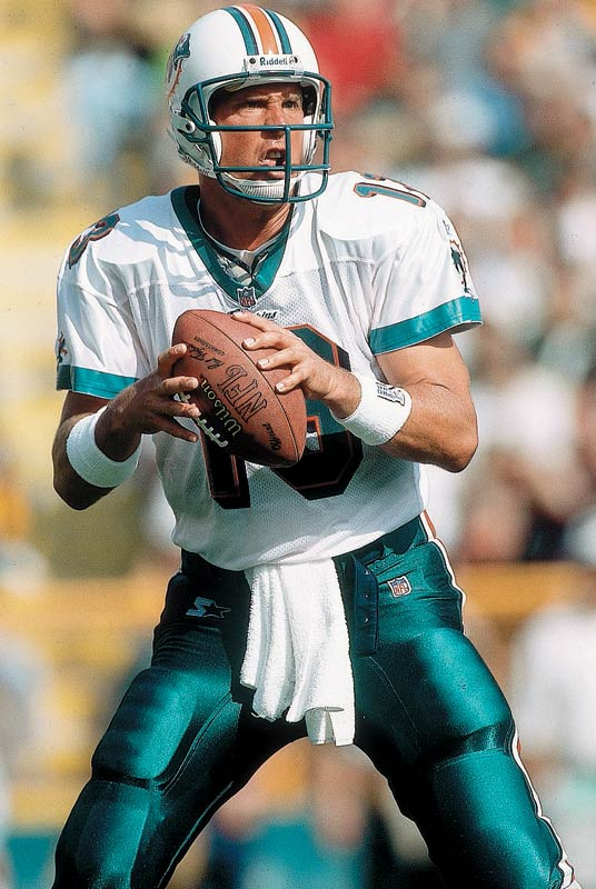 No one threw it more beautifully, ever. He was the first man to reach 400 TD passes.