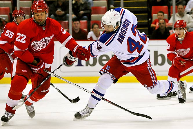 At 21, Anisimov lacks the experience of some of the players ahead of him on the depth chart, but as he demonstrated last season in Hartford (37-44-81), he brings a dynamic offensive game that would be miscast in a depth role. Look for the Rangers to figure that out quickly and bump him to the second line where he can maximize his impact, or return him to Hartford to continue his development on a top line.