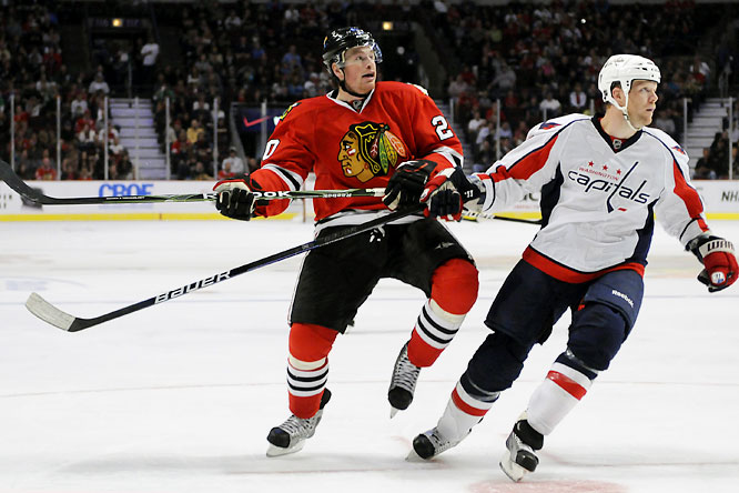 After paying his dues in Rockford, the grinding winger is about to get his chance as a result of Adam Burish's injury...as long as his own lower body injury doesn't get in the way. Skille's not a significant offensive threat, but his speed and tireless board work would make him a useful depth player.
