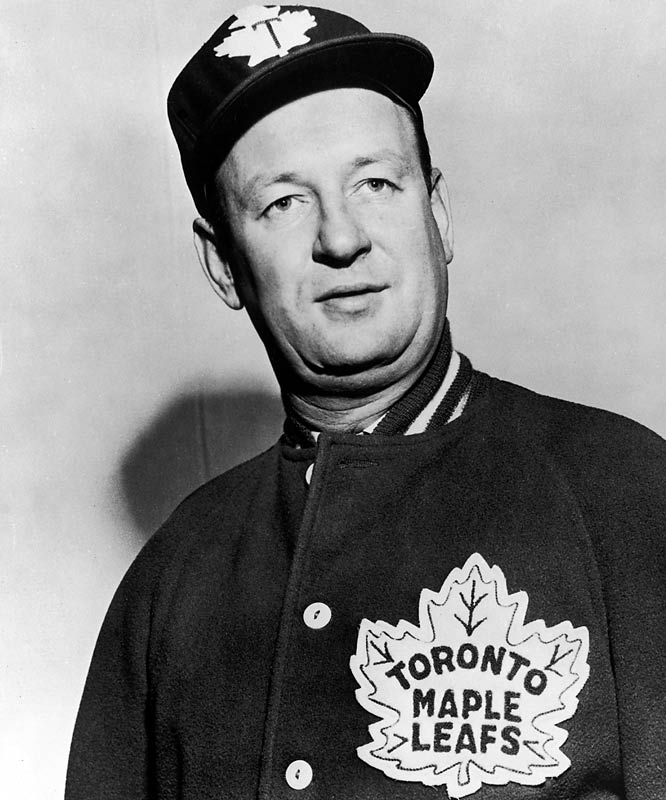 The Hall of Fame coach earned his nickname after he was accidentally knocked out by an elbow to the head during a senior league game in Canada. Upon waking, the dazed Imlach tried to punch his team's trainer, who was merely trying to help. Imlach never lived it down or played in the NHL, but he later guided the Maple Leafs to the playoffs 10 times in 11 seasons, winning the Stanley Cup in 1962, 1963, 1964 and 1967.