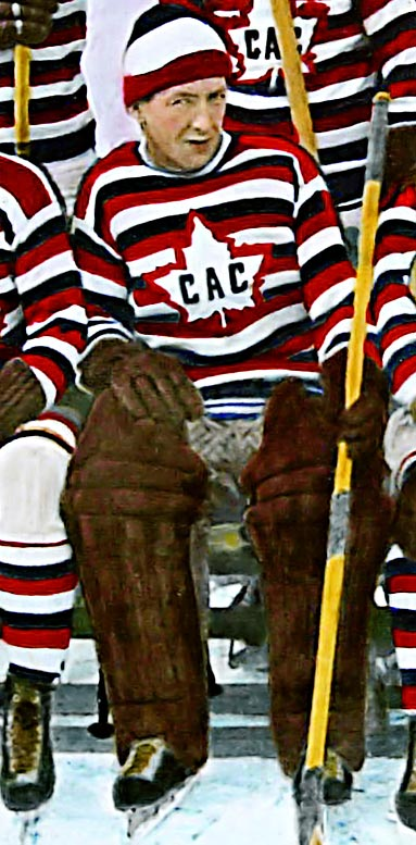 "The Montreal icon, after whom the trophy awarded each year to the NHL's best goalie is named, was extraordinarily composed and reserved on the ice. Hailing from Chicoutimi, Quebec, Vezina's nickname was a play on the old expression ""cool as a cucumber."" He was in net for the Canadiens' first two Stanley Cups: 1916 and 1924."