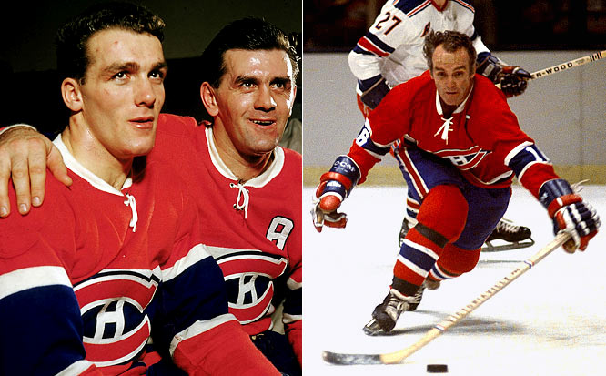 Rocket Richard's younger brother Henri was waterbug-quick but, at 5-7 and 160 pounds, three inches shorter and 20 pounds lighter than his famous sibling, hence his nickname. The Hall of Fame center's name graces the Stanley Cup a record 11 times as a player. He spent his entire 20-season career with the Canadiens.