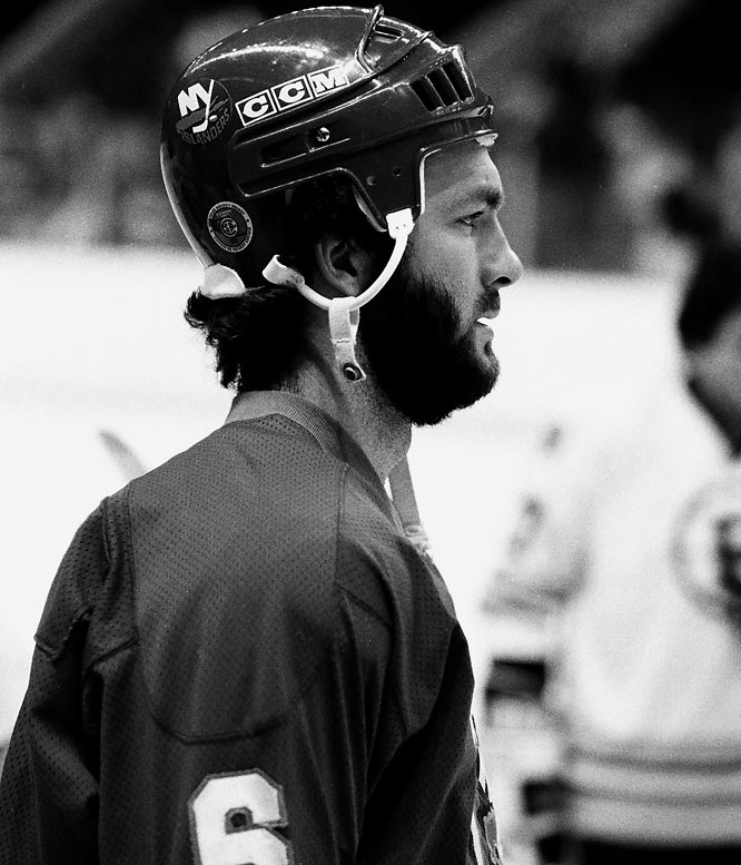 The lanky defenseman who joined the Islanders straight from the 1980 U.S. Olympic Team's miracle at Lake Placid earned his moniker for the bushy beard that made him resemble Lon Chaney, Jr.'s famous lupine menace. Not a particularly vicious or physical blueliner, Morrow's steadiness and skill made him a fixture on four Stanley Cup championship teams (1980-83).