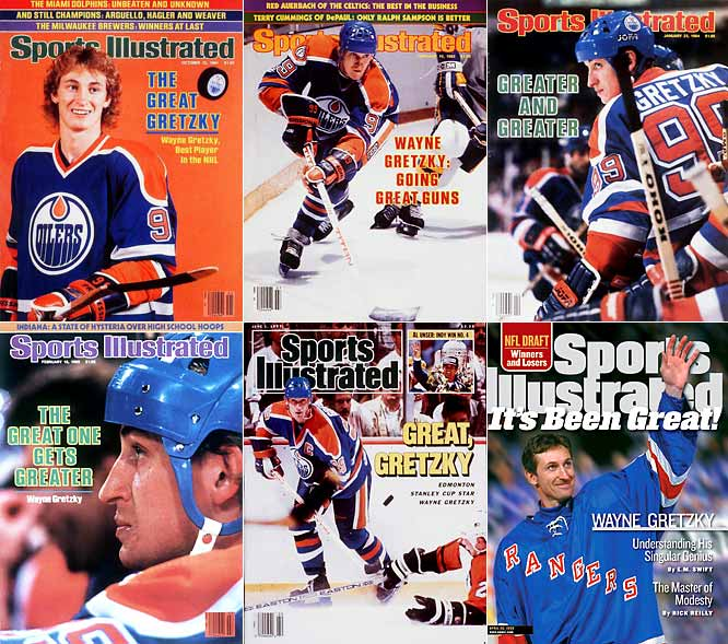 "When you start shattering NHL scoring marks at age 20 and go on to rewrite the record book -- Gretzky owned or shared 61 marks upon his retirement in 1999 -- while winning nine Hart trophies, 10 scoring titles and four Stanley Cups, ""The Great One"" is a rather obvious tag. As a kid in Brantford, Ont., Gretzky was called ""the White Tornado"" for the color of his hockey gloves, his speed, and his devastating scoring skills."
