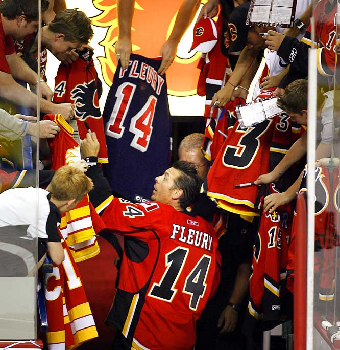 Theoren Fleury's comeback attempt with the Calgary Flames at age 41, after six years away from the NHL, was one of the compelling stories of the preseason. Here's a look at the career of a talented and notorious pest who scored 455 goals and 1,088 points in 15 seasons before his life was derailed in 2003 by substance abuse.