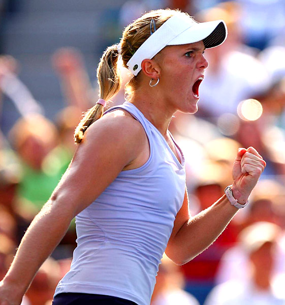 "''I can compete with these top girls,"" Oudin said after defeating Sharapova. ""And if I believe in myself, and my game, then I can beat them.''"