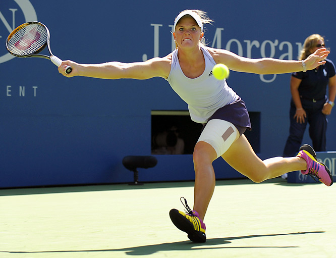 Oudin's first upset win in New York was in the second round over No. 4 Elena Dementieva, a two-time Grand Slam finalist.