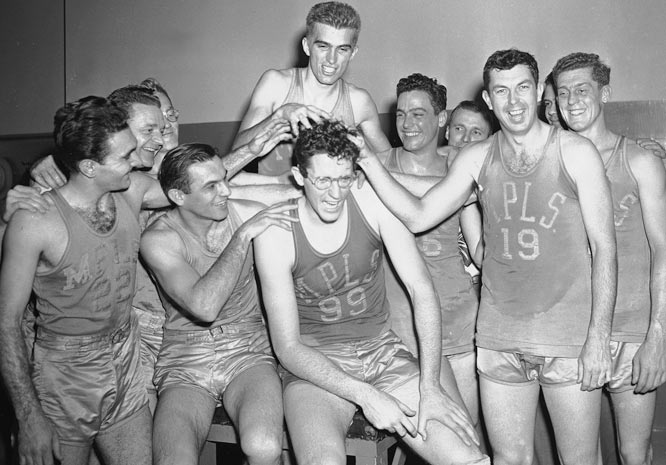 James Naismith, Harold Olsen, John Schomer, Amos Alonzo Stagg, Oswald Tower, Phog Allen, Henry Carlson, Luther Gulick, Ed Hickox, Chuck Hyatt, George Mikan (pictured), Pat Kennedy, Hank Luisetti, Walter Meanwell, Ralph Morgan, Original Celtics, First Team.    Let's face it, any inaugural class is going to have an unfair advantage, based on the backlog of deserving folks ready for a Hall's door to swing open. Baseball, for instance, made Cy Young wait while Babe Ruth, Ty Cobb, Honus Wager, Walter Johnson and Christy Mathewson got in on the first ballot. Basketball's equivalents would be legends and founders such as Mikan, Allen, Stagg and, of course, the guy who scribbled down the original 13 rules.