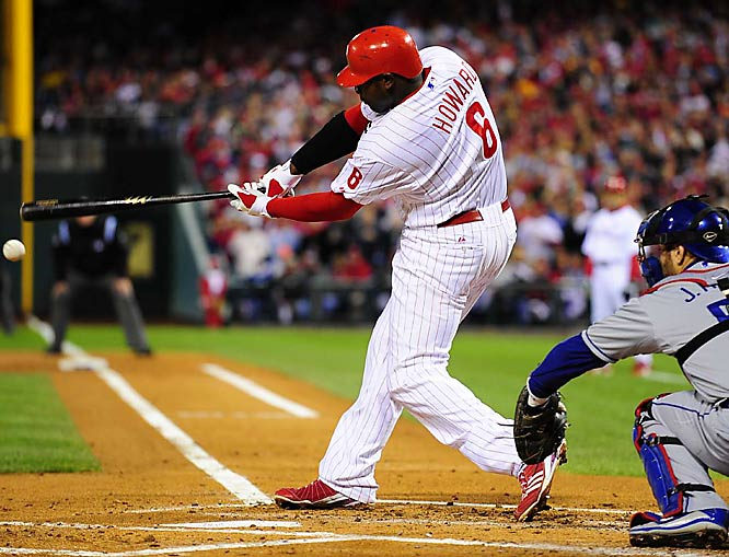 Ryan Howard triples in the first inning.