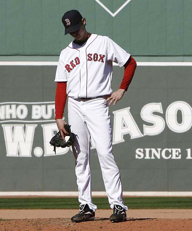 Starting pitcher Clay Buchholz lasted five innings