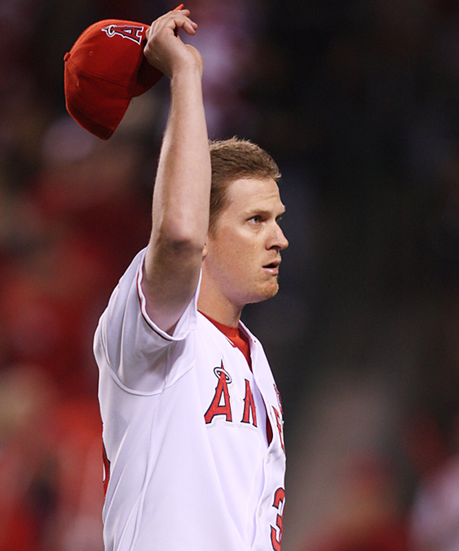 Jered Weaver allowed one run over 7 1/3 innings to earn the win.