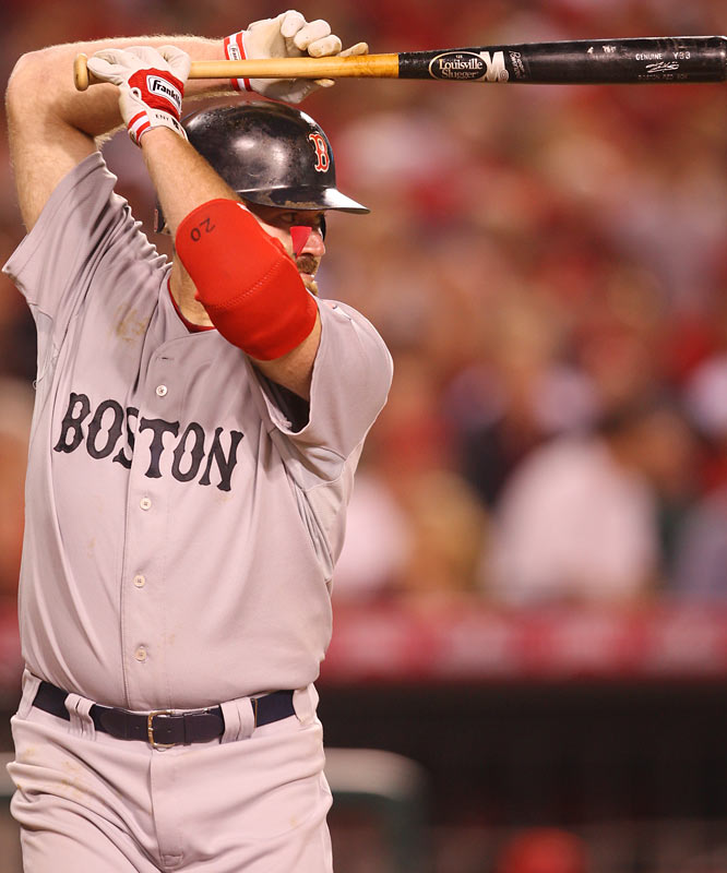 Kevin Youkilis went hitless in four at-bats in Game 1.