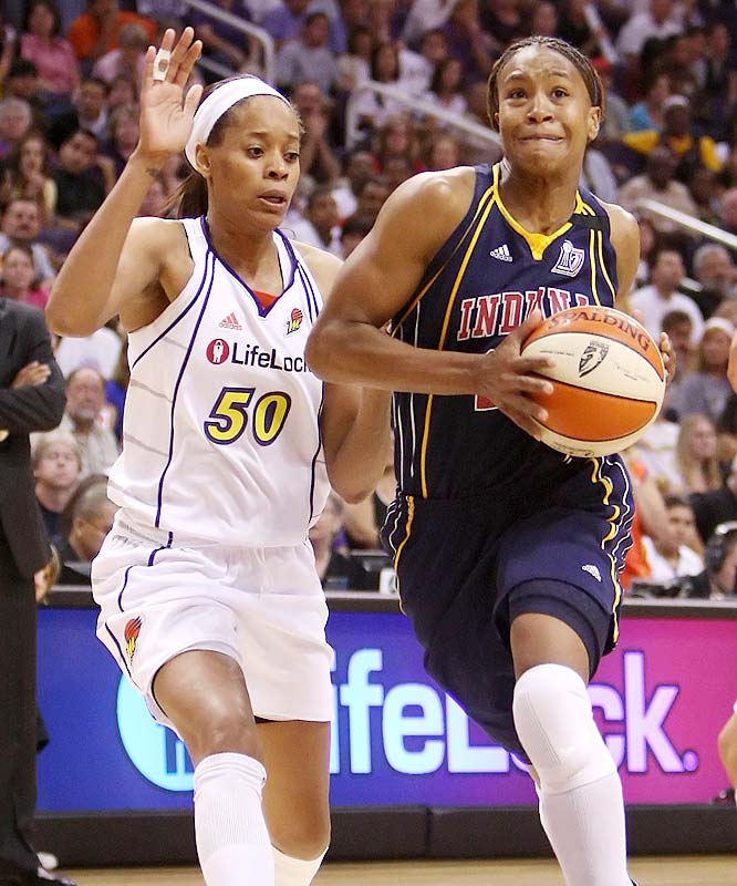 This one awakened the monster in Tamika Catchings.  After scoring just eight points and fouling out in Game 1, Catching put up 19 points, nine rebounds and tied a finals record with eight assists to help the Fever even the series.