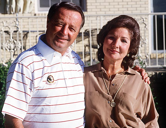 Bobby Bowden poses with his wife, Ann. The couple has been married over 60 years.