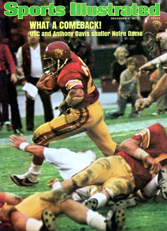 Though Davis is not one of Troy's four Heisman-winning tailbacks, he clearly is the most loathed in South Bend. In the '72 win A.D. scored all six Trojan touchdowns and broke five school records in one day. Two years later, with USC down 24-6, he returned the opening kickoff for six, part of USC's 55 unanswered points.