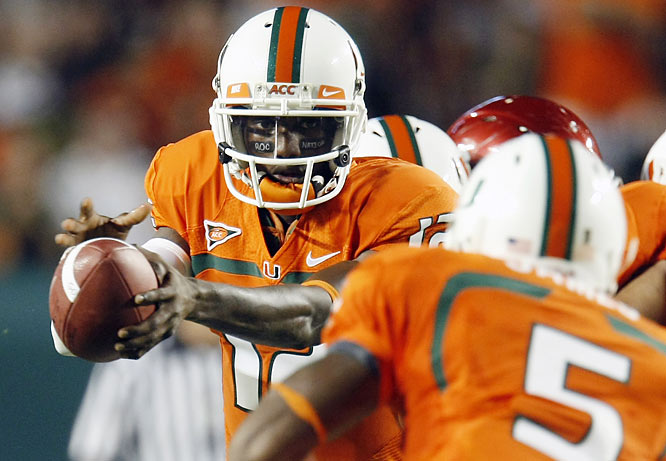 With Oklahoma's reigning Heisman Trophy-winning quarterback watching from the sideline, still out with a right shoulder injury, Miami (3-1) scored 21 straight points to take control. Jacory Harris and the Hurricanes found the right combination for their biggest win in years.