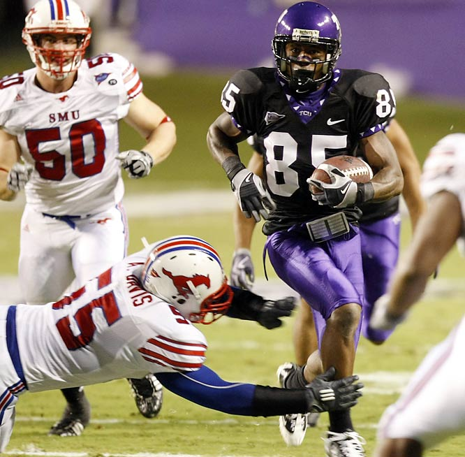 Jeremy Kerley returned a punt 71 yards for the go-ahead touchdown and 11th-ranked TCU overcame three first-half turnovers to avoid another letdown against SMU, beating the Mustangs Saturday night.