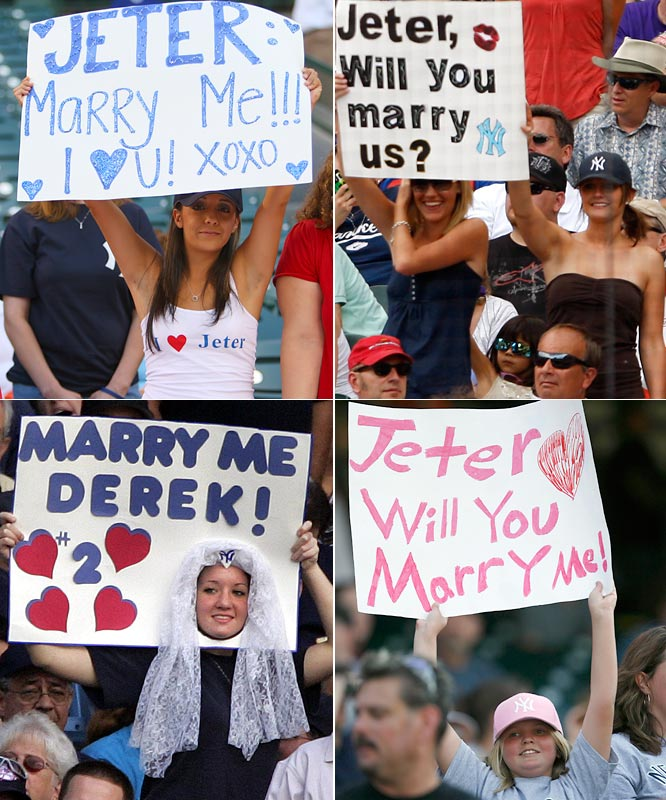 As these signs indicate, Jeter has many options if he ever decides to tie the knot.