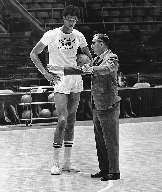 Among Coach Wooden's most famous players: future NBA legend Kareem Abdul-Jabbar (then known as Lew Alcindor).