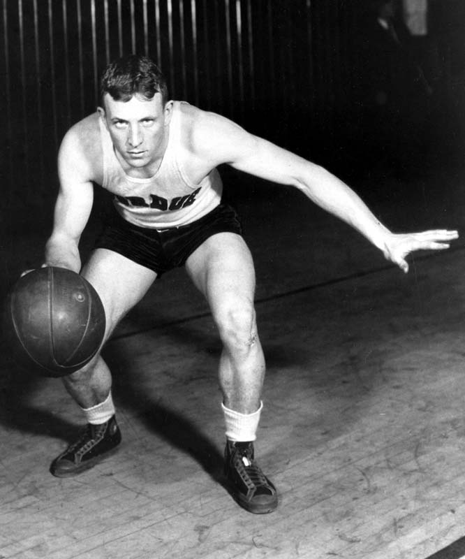 Coach Wooden was a standout during his playing days at Purdue, where he was a three-time consensus All-America.