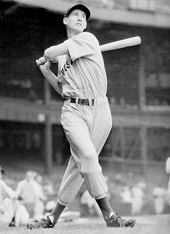 I do think there's a strong argument to be made for Ted Williams over Babe Ruth. He had the better on-base percentage. He missed three prime seasons because of World War II and most of two seasons in his young 30s when he went to Korea -- there seems little doubt that with those years his numbers would have been even better. He walked more than Ruth and struck out a lot less. The main thing that Ruth could do better than Williams was hit home runs. That's not a bad advantage to have -- especially because Ruth was so good at the things that Williams was good at (hitting for average, drawing walks, consistently putting up jaw-dropping numbers).
