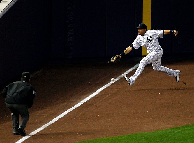 In the top of the 11th of Game 2 of the AL Division Series at Yankee Stadium, Twins catcher Joe Mauer hit what appeared to be a leadoff double down the left-field line. But umpire Phil Cuzzi called it foul. Mauer would single and the Twins would load the bases but fail to score. The Yankees went on to win the game and sweep the series.
