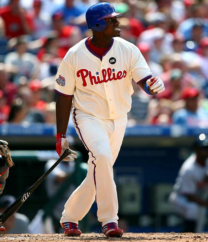 The 2006 National League MVP enjoyed another fabulous season in Philadelphia, smacking 45 home runs and tying (with Prince Fielder) for the major league lead with 141 RBIs. Howard helped guide Philadelphia to its second title, hitting three homers in five World Series games.