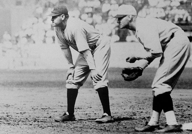 With his Yankees trailing 3-2 in the bottom of the ninth of Game 7 against the Cardinals, Babe Ruth worked a two-out walk off fellow Hall of Famer Pete Alexander, putting the tying run on base for Lou Gehrig. But Ruth was promptly thrown out trying to steal second, handing the Series to St. Louis.