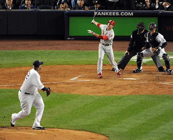 Chase Utley homered off CC Sabathia in the third inning.
