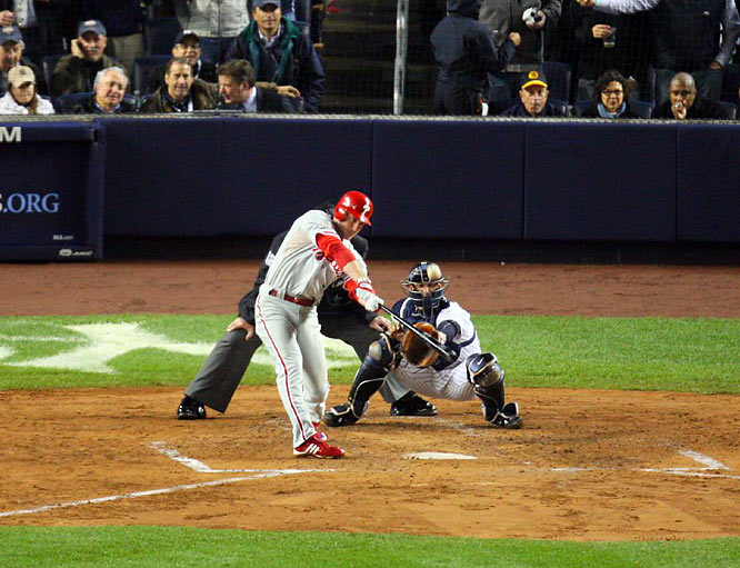 Utley, who previously had four career postseason home runs, hit solo shots in the third and sixth innings.